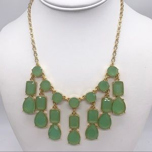 Kate Spade Riviera Garden Green Jeweled Necklace